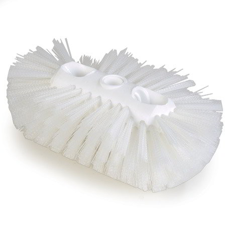 "Carlisle 4117702 Jumbo Tank/Kettle Brush - 6x10-1/2"" White"