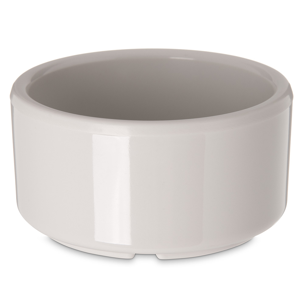 Carlisle 41242 3-oz Footed Ramekin - Melamine, Bone