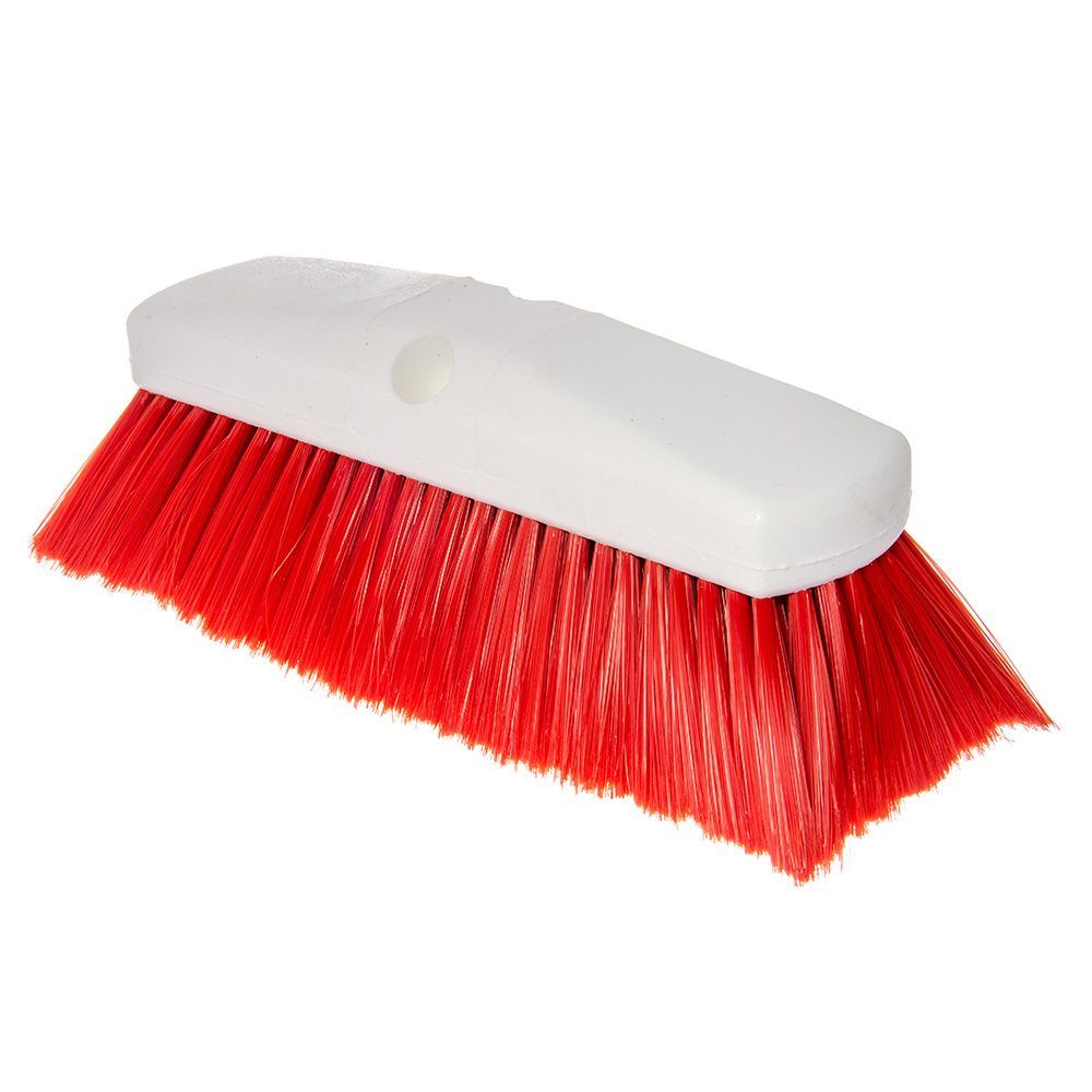 "Carlisle 4127805 10"" Flo-Thru Brush - Red"