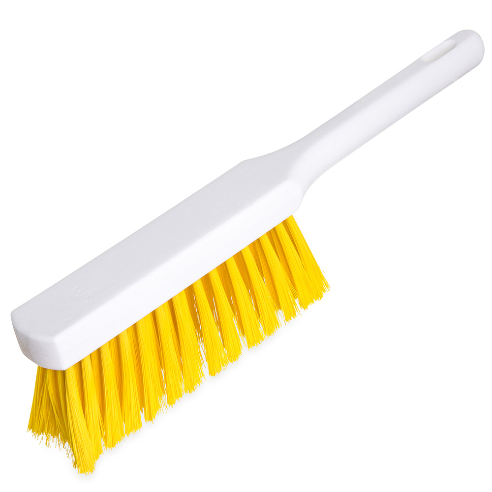 Carlisle 4137204 13-in Counter Brush w/ Plastic Handle & Yellow DuoSet Bristles