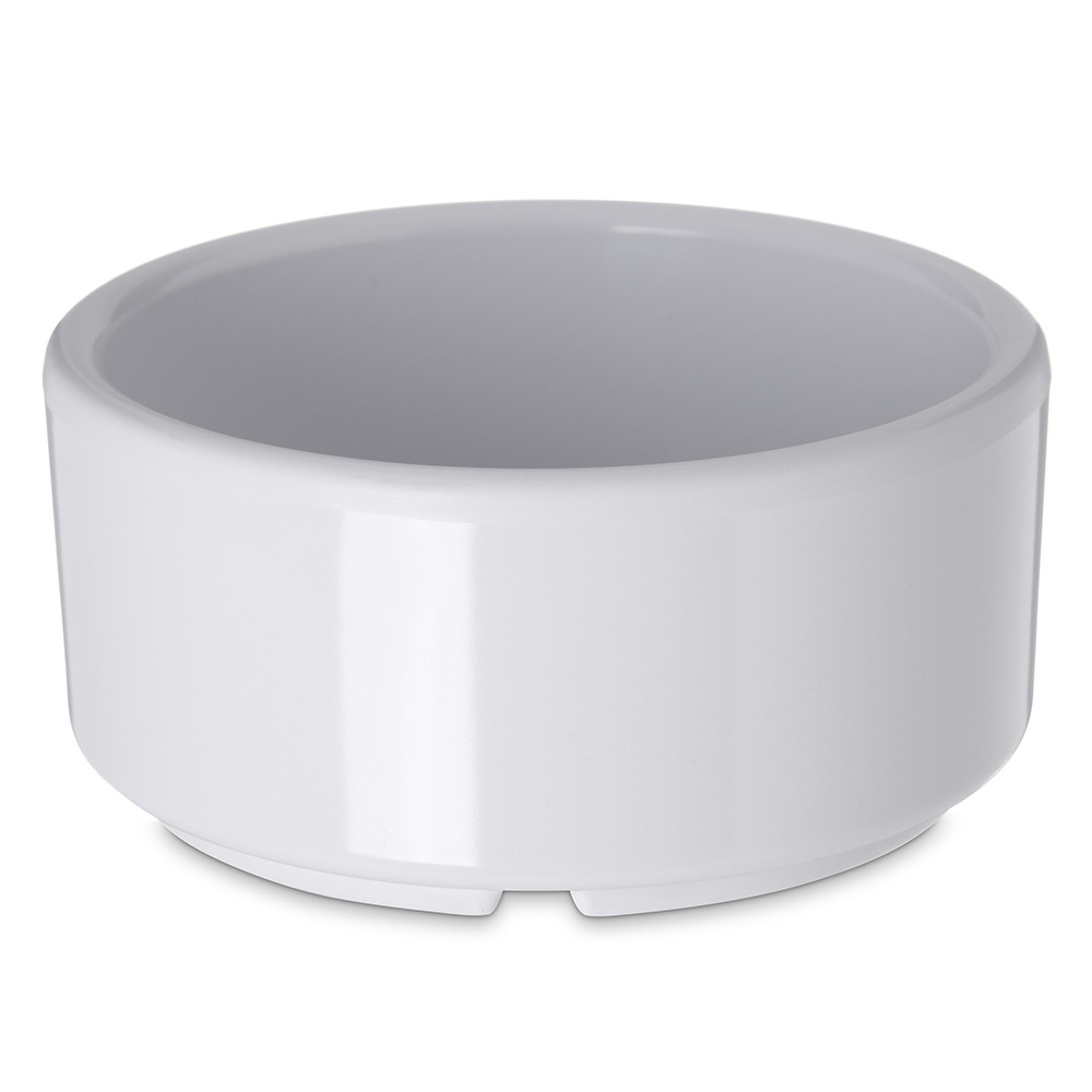 Carlisle 41402 4-oz Footed Ramekin - Melamine, White