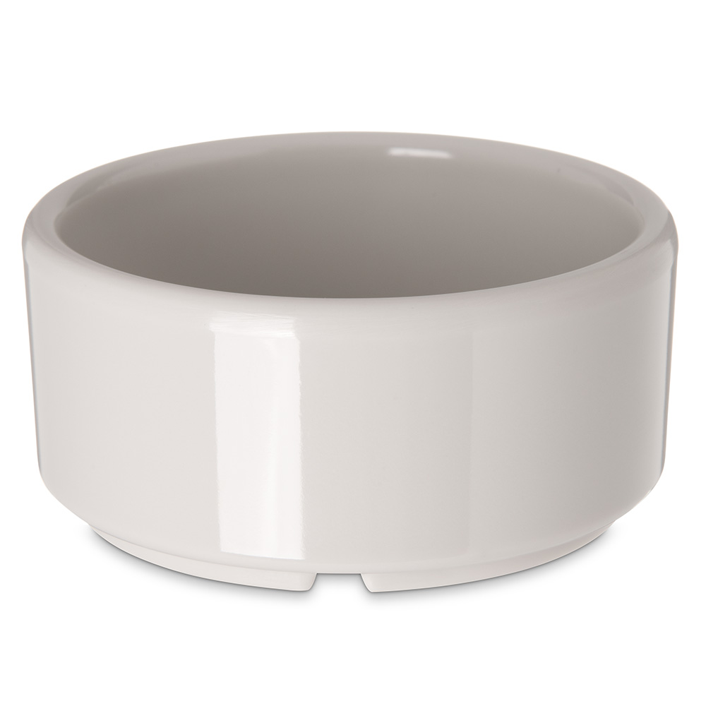 Carlisle 41442 4-oz Footed Ramekin - Melamine, Bone