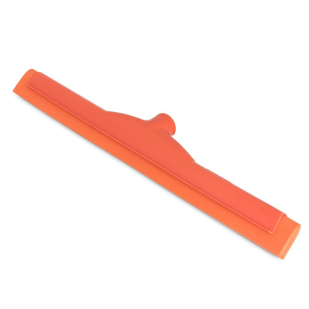 "Carlisle 41567-24 18"" Hygienic Floor Squeegee Head - Double Foam, Plastic Frame, Orange"