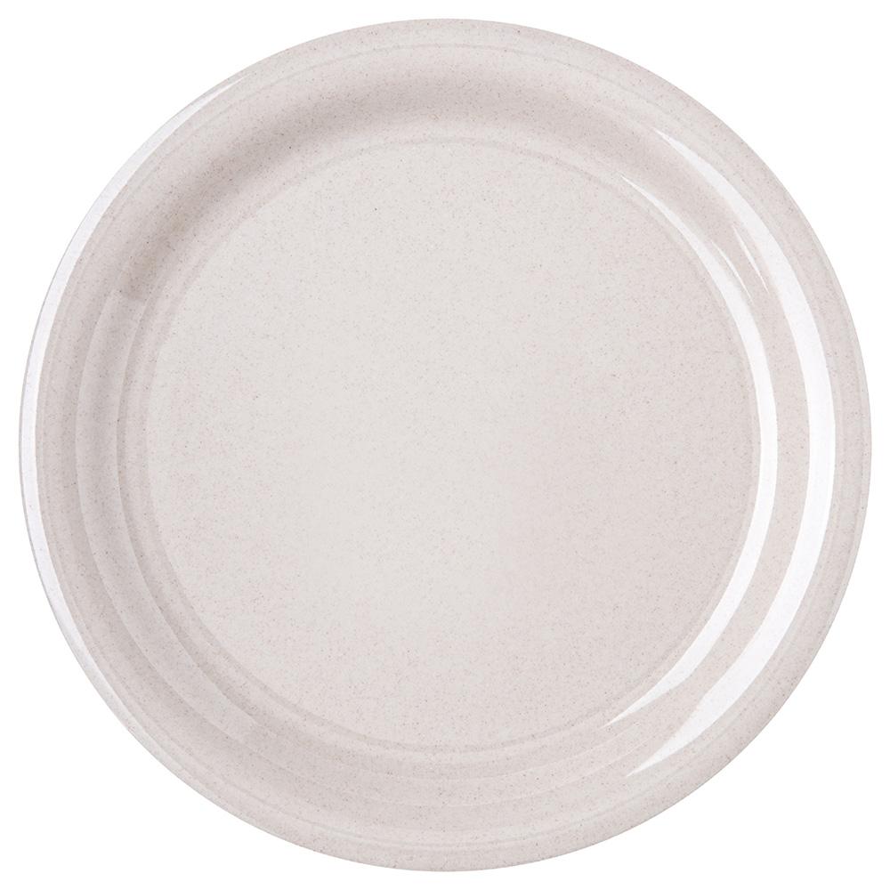 """Carlisle 4300471 9"""" Durus Dinner Plate - Narrow Rim, Melamine, Sand"""