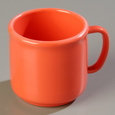 Carlisle 4305252 10-oz Stackable Mug - Sunset Orange