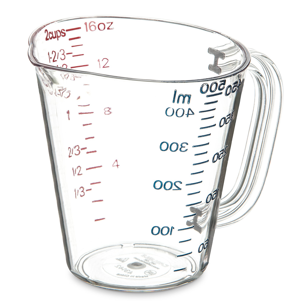 Carlisle 4314207 16-oz (1-pint) Oval Measuring Cup - Clea