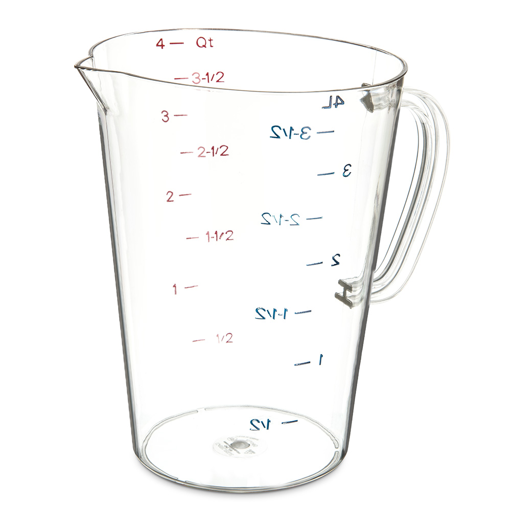 Carlisle 4314507 128-oz (1-gal) Oval Measuring Cup - Clear