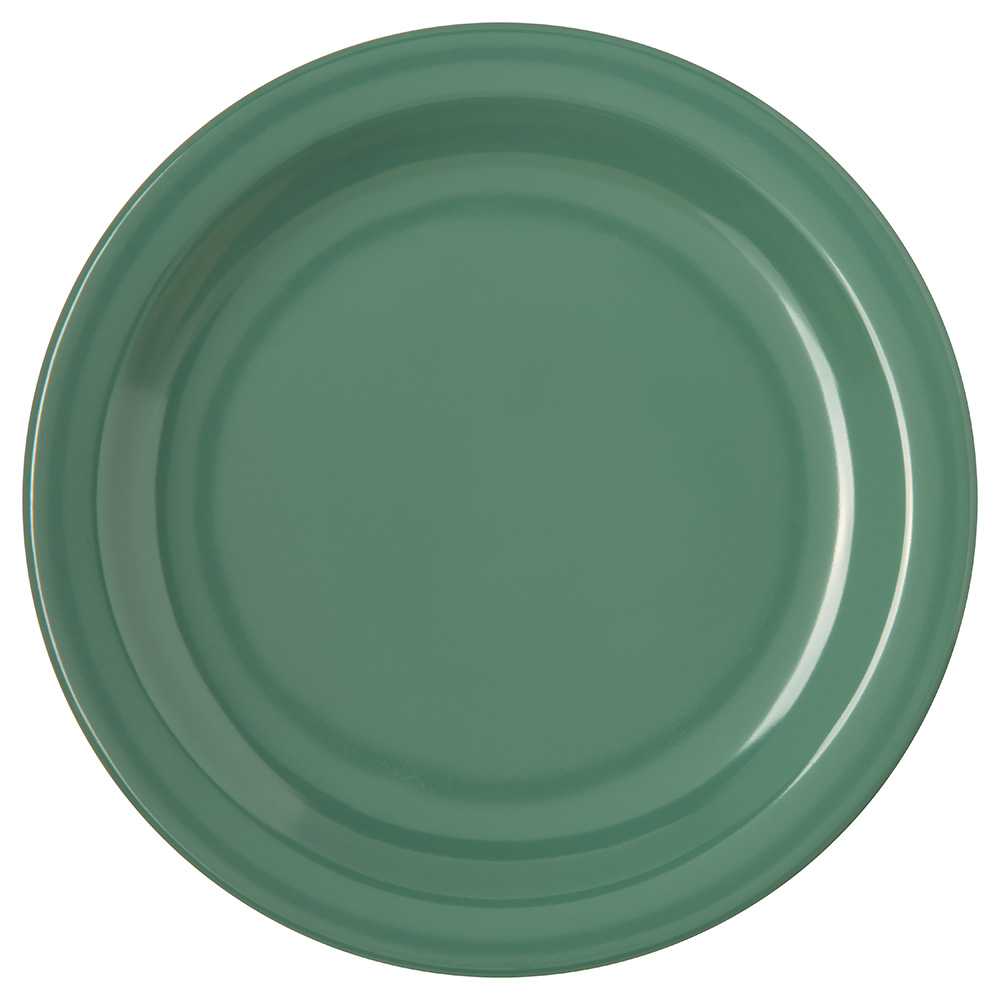 Carlisle Food Service 4350309 Dallas Ware Salad Plate 7-1/4 in Melamine NSF Green Restaurant Supply