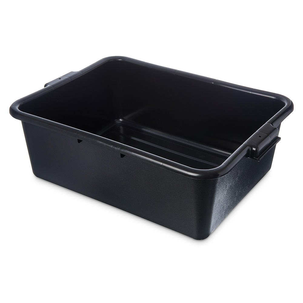 Carlisle 4401103 1-Compartment Scratch-Resistant Bus Box, 20 x 15 x 7-in, Black