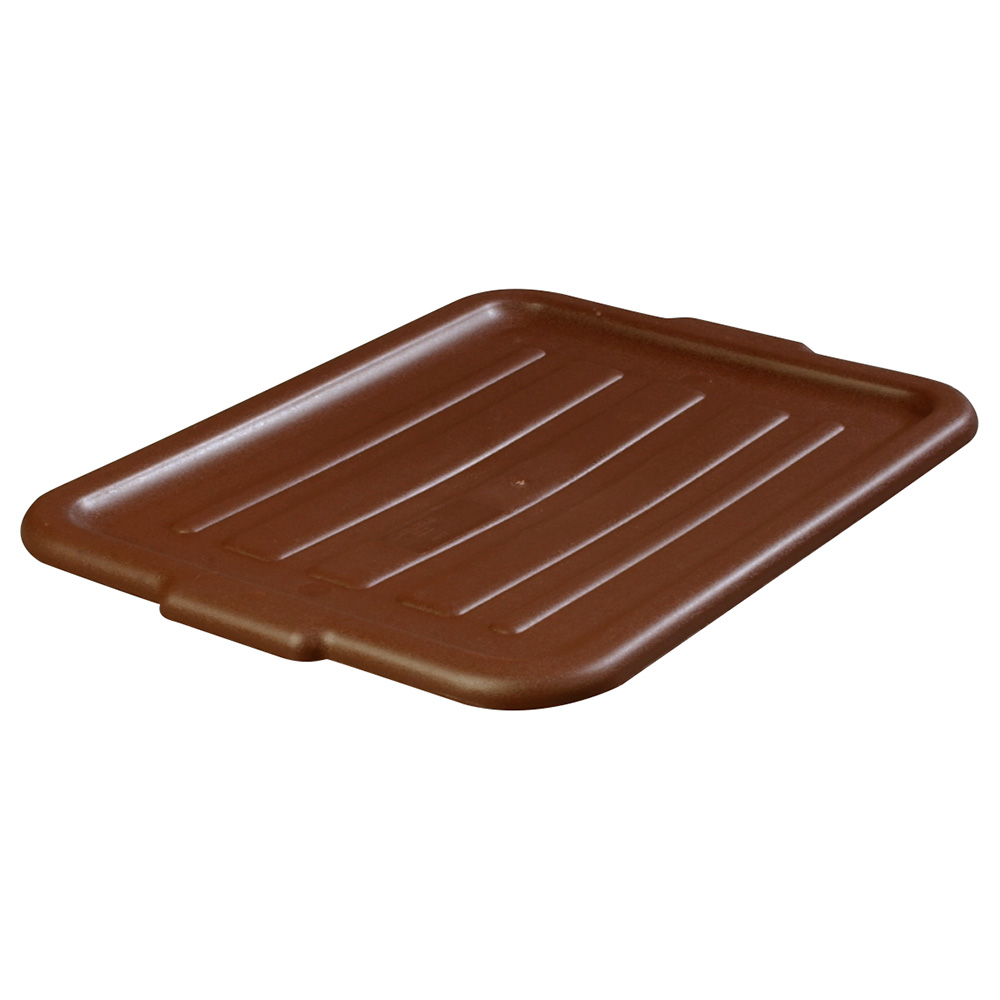 Carlisle 4401201 Bus Box Lid, Universal, Polyethylene, Brown
