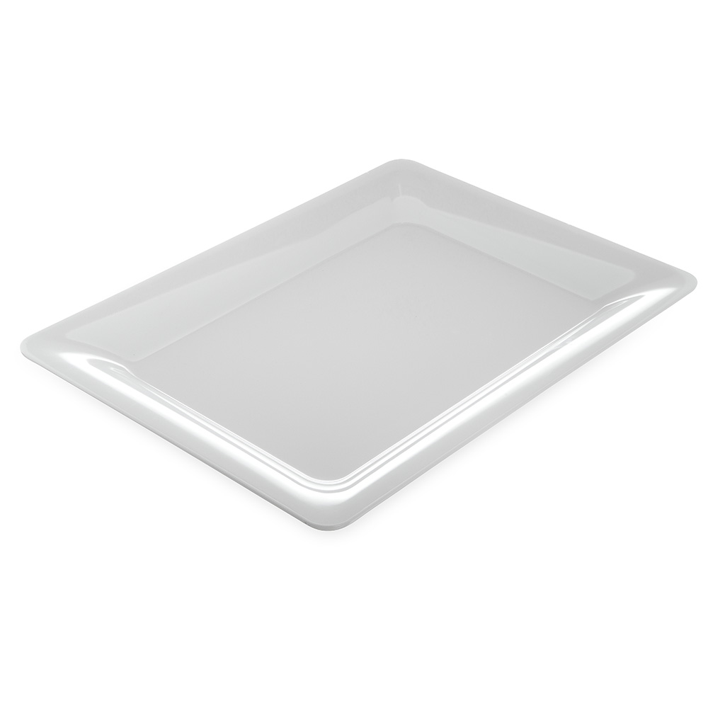 Carlisle Food Service 4441602 Palette Designer Displayware Plate 17 in x 13 in Wide Rim Rectangle White Restaurant Supply