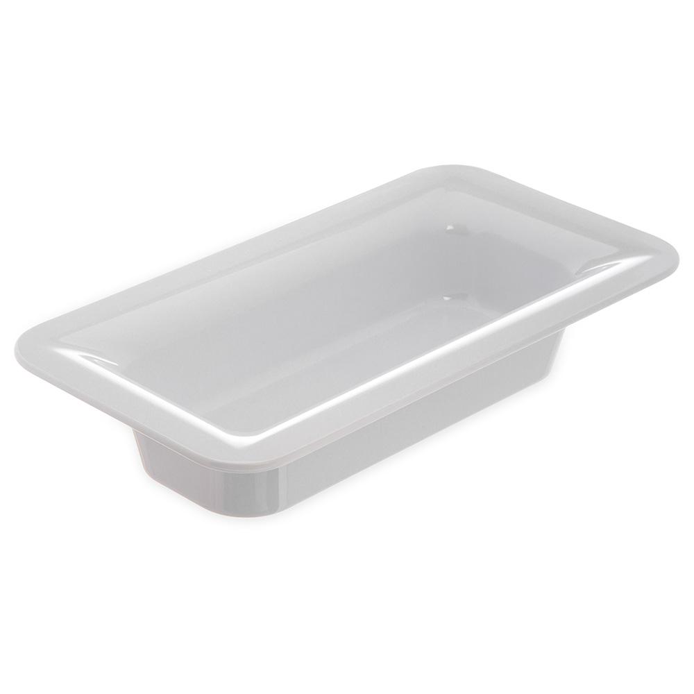 "Carlisle 4446202 1/3 Size Palette Designer Food Pan - 2-1/2"" D, White"