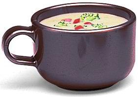 Carlisle 451228 Jumbo Soup Latte Mug, 12 oz., Brown SAN Exterior