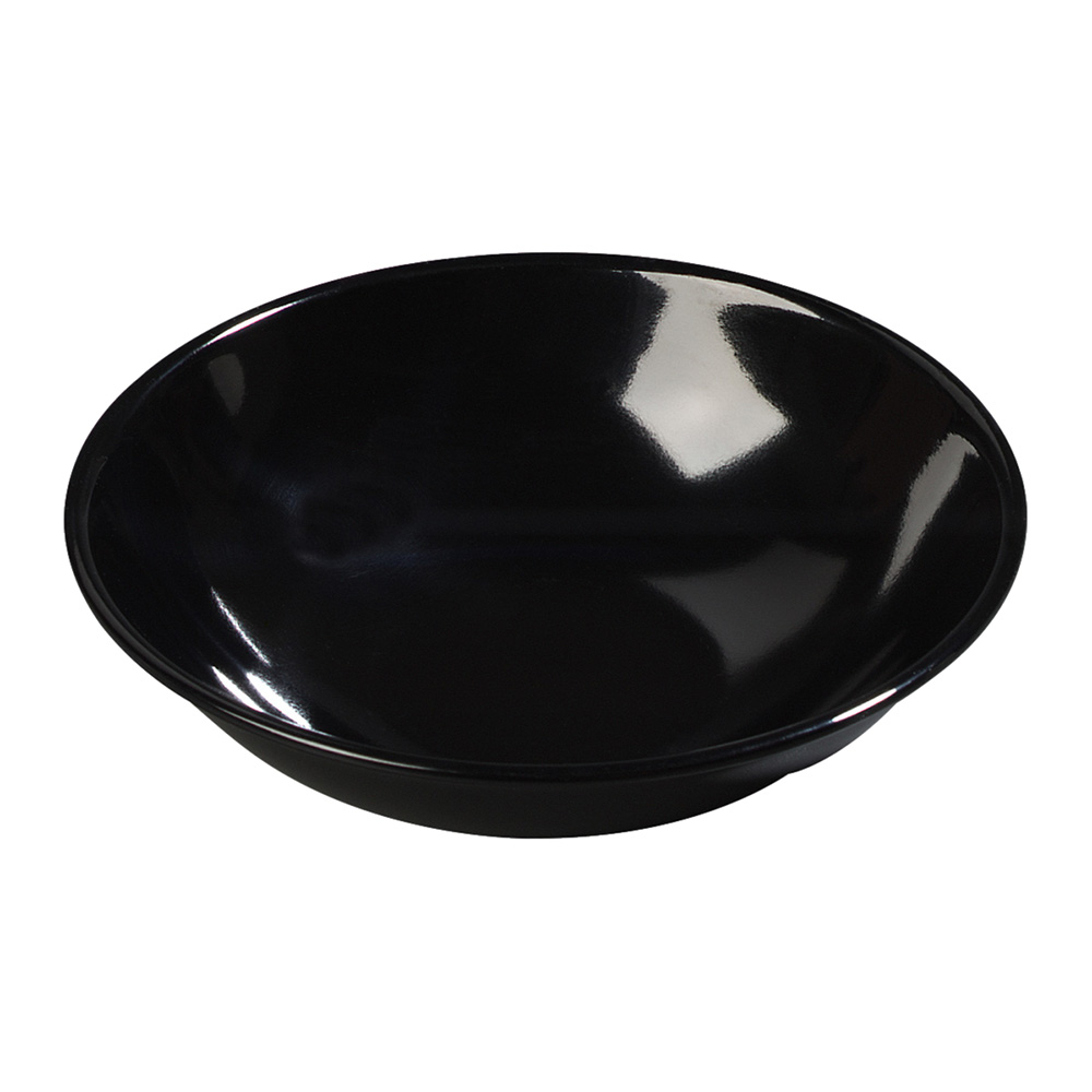 Carlisle 500B03 Salad Bowl, 5-1/2 in, 10 oz., Melamine, Black, N