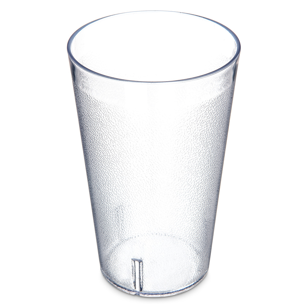 Carlisle 553207 Stackable Tumbler, 32 Oz, Pebbled, Clear