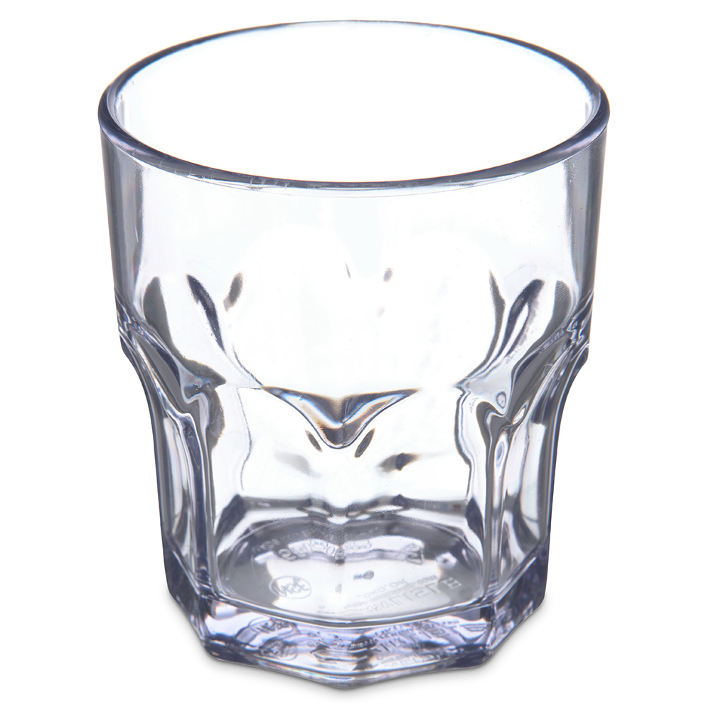 Carlisle 580807 8-oz Louis Rocks Tumbler - Clear