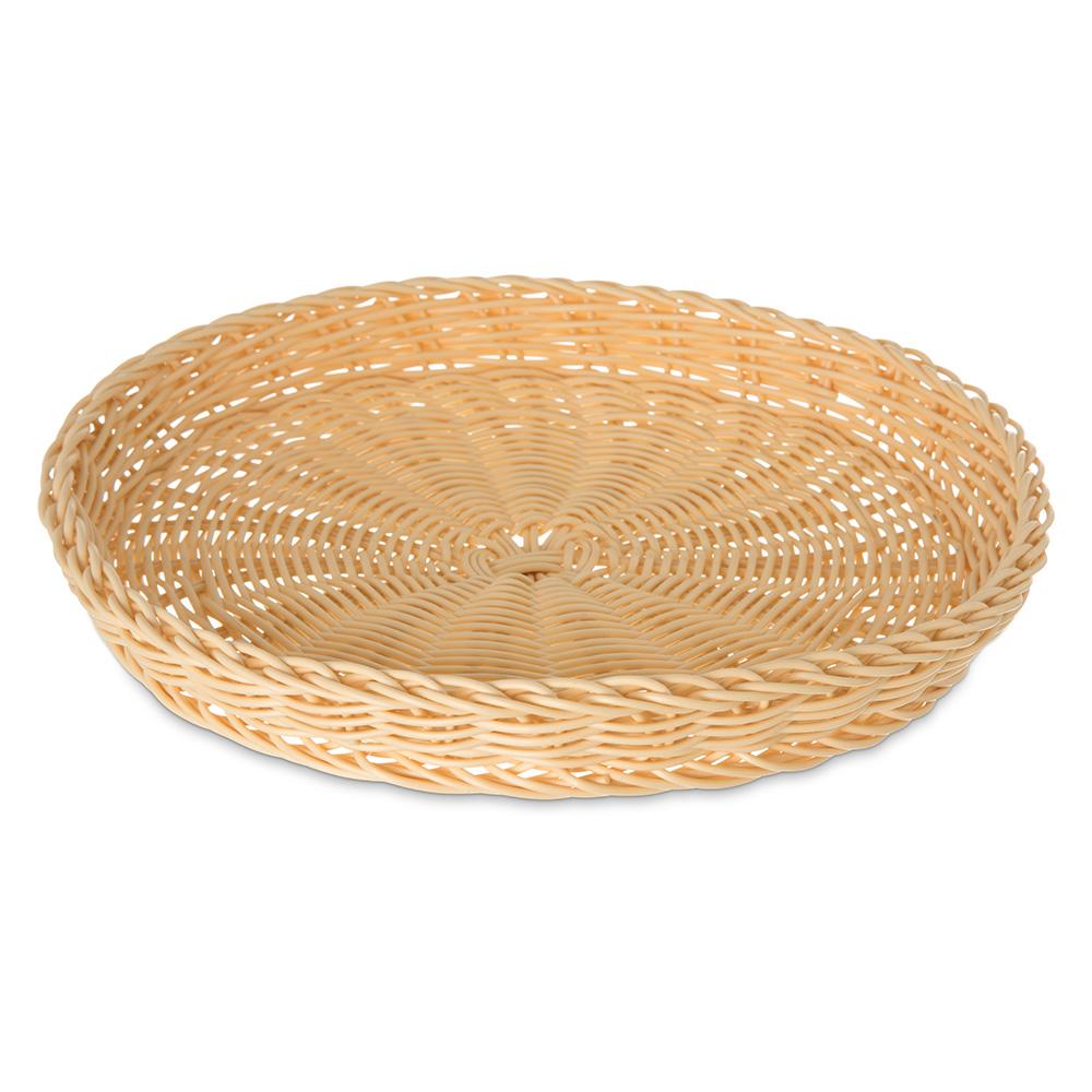"Carlisle 6554-06 11"" Round Woven Basket - Polypropylene, Oatmeal"