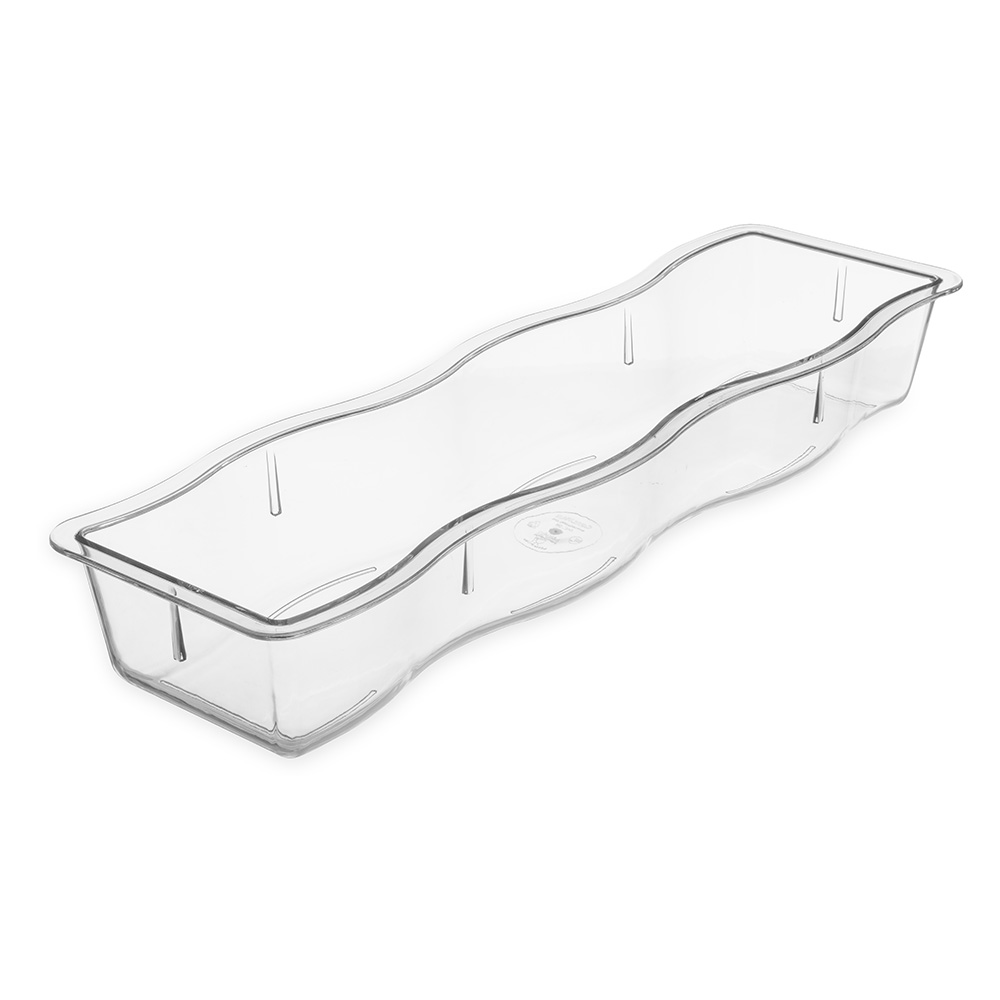 "Carlisle 6982-07 Modular Displayware Pan - Half-Size Long, 2-1/2"" D, Polycarbonate, Clear"