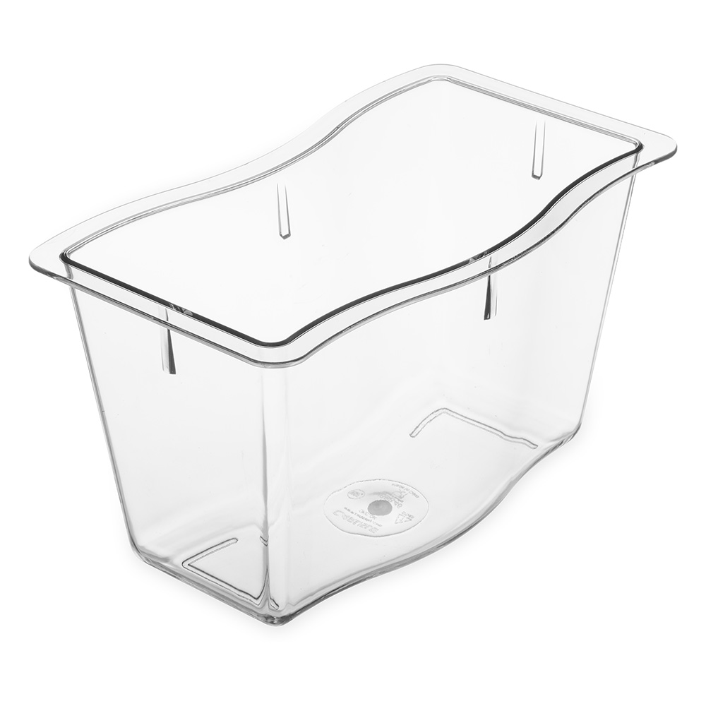 "Carlisle 69846-07 Half-Size Displayware Pan - 6""D, Clear"