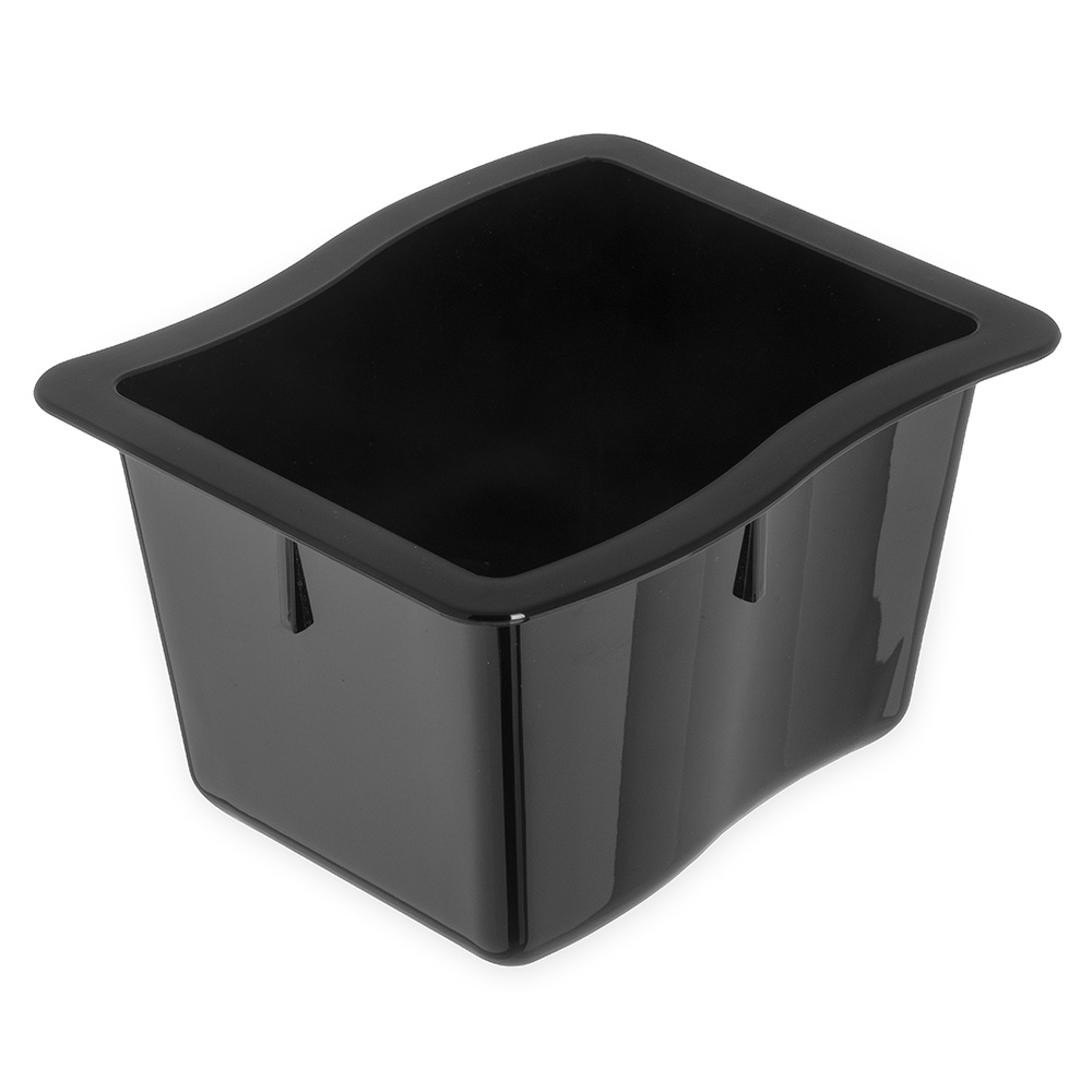 "Carlisle 69864-03 1/3 Size Modular Displayware Pan - 4"" D, Polycarbonate, Black"