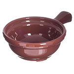 Carlisle 700628 Handled Soup Bowl, 8 oz., 4-5/8 in Diameter, Brown, SAN