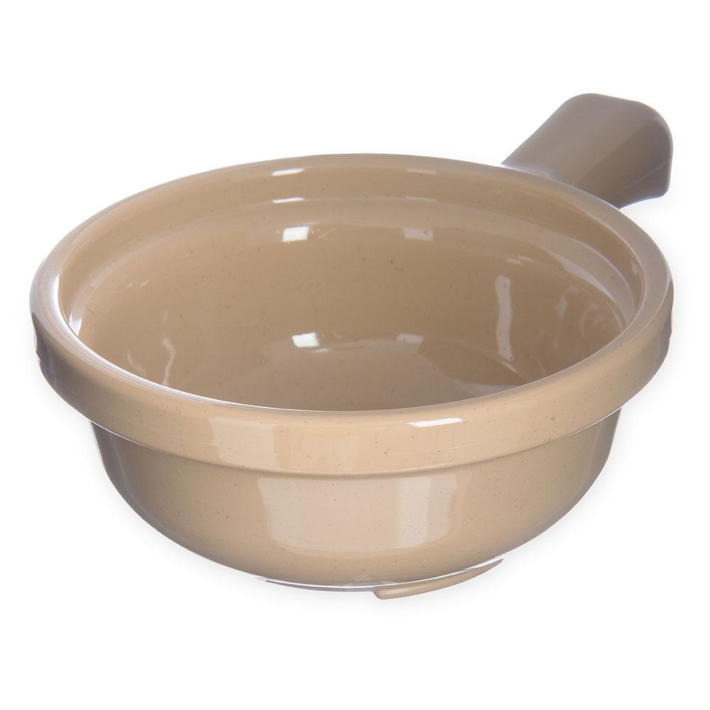 Carlisle 700819 Handled Soup Bowl, 12 oz., 5-1/4 in Diameter, Stone, SAN
