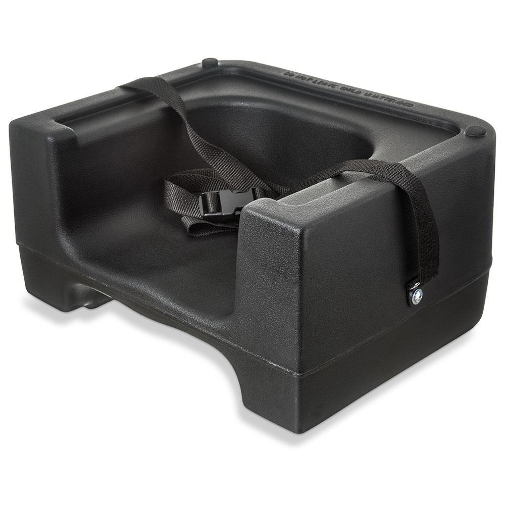 Carlisle 7111-403 Dual Booster Seat - Adjustable Strap, Polyethylene, Black