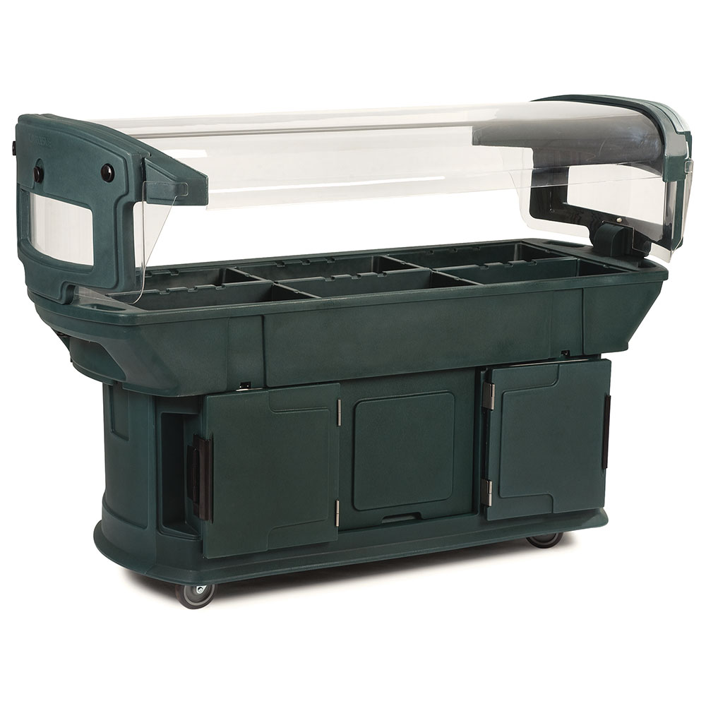 Carlisle 771108 Maximizer Food Bar - (6)Full-Size Pan Capacity, Polyethylene, Forest Green