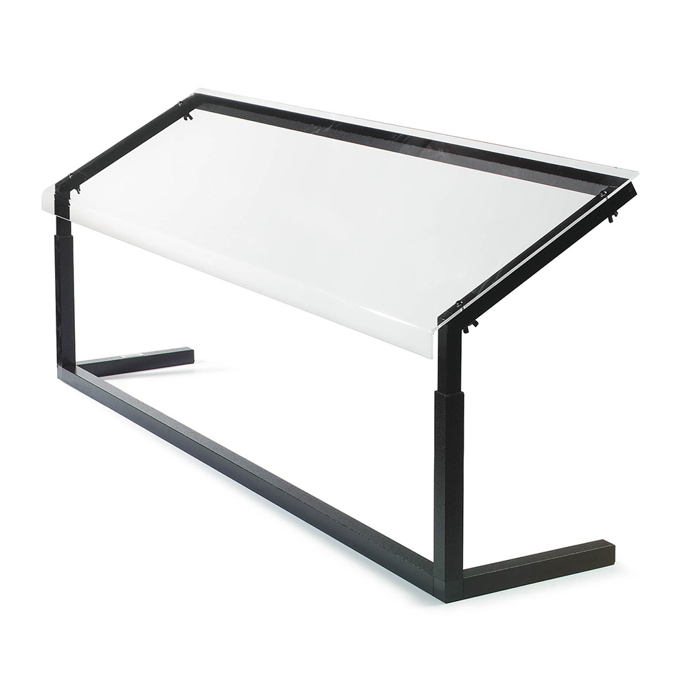 Carlisle 924803 48-in 1-Sided Sneeze Guard, Portable, Black Frame, Clear Acrylic