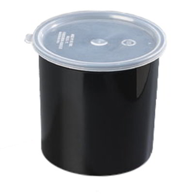 Carlisle 034203 2.7-qt Poly-Tuf Crock - Snap-On Lid, Translucent/Black