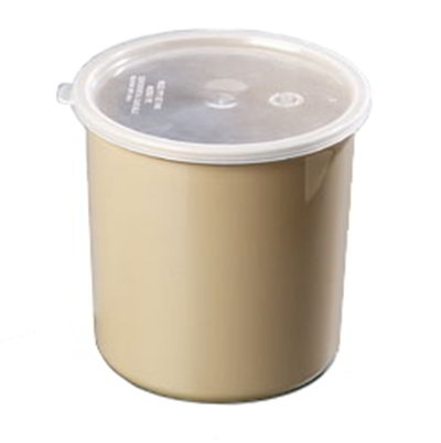 Carlisle 034201 2.7-qt Poly-Tuf Crock - Snap-On Lid, Translucent/Brown