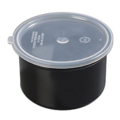 Carlisle 034303 1.5-qt Poly-Tuf Crock - Snap-On Lid, Translucent/Black