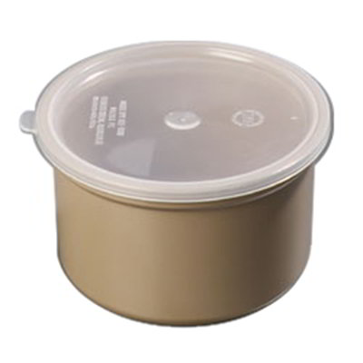 Carlisle 034301 1.5-qt Poly-Tuf Crock - Snap-On Lid, Translucent/Brown