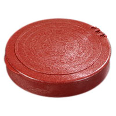 "Carlisle 071029 7"" Tortilla Server with Lid - Terra Cotta"