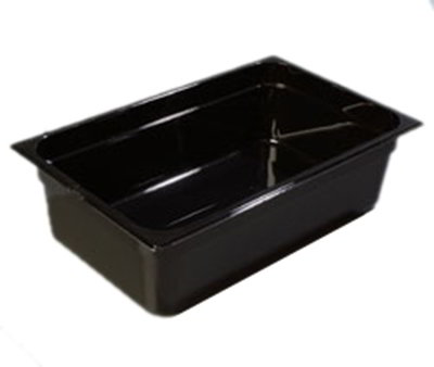 "Carlisle 1020203 Full Size Food Pan - 6""D, Black"