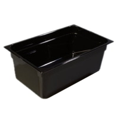 "Carlisle 1020303 Full Size Food Pan - 8""D, Black"