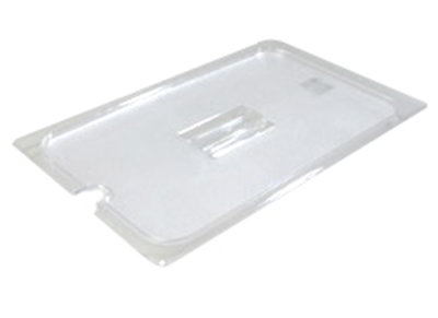 Carlisle 10211U07 Universal Full Size Food Pan Lid - Notched, Clear