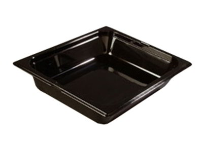 "Carlisle 1022003 Half Size Food Pan - 2-1/2""D, Black"