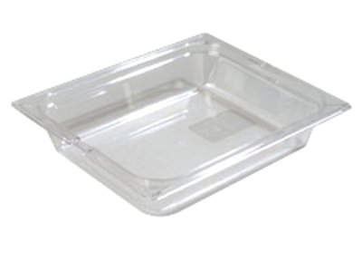 "Carlisle 1022007 Half Size Food Pan - 2-1/2""D, Clear"