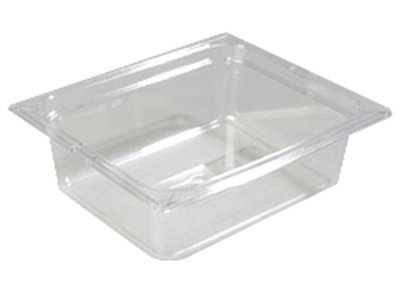"Carlisle 10221-807 Half Size Food Pan - 4""D, 3/pk, Clear"