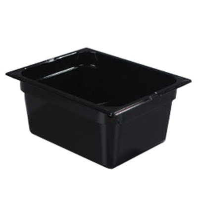 "Carlisle 1022203 Half Size Food Pan - 6""D, Black"