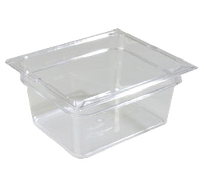 "Carlisle 1022207 Half Size Food Storage Container - 6""D, Clear"