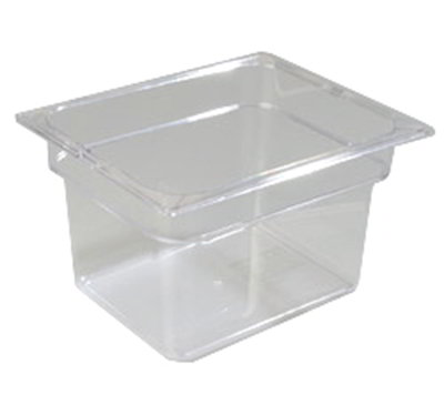 "Carlisle 1022307 Half Size Food Pan - 8""D, Clear"