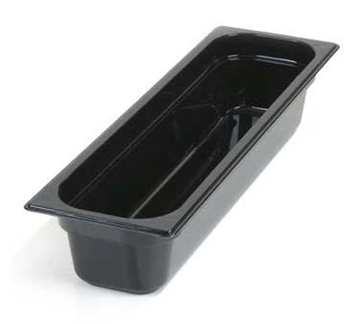 "Carlisle 10241B03 Half Size-Long Food Pan - 4""D, Black"