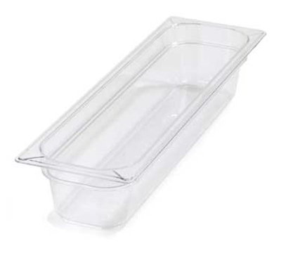 "Carlisle 10241B07 Half Size-Long Food Pan - 4""D, Clear"