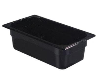 "Carlisle 1026103 1/3 Size Food Pan - 4""D, Black"
