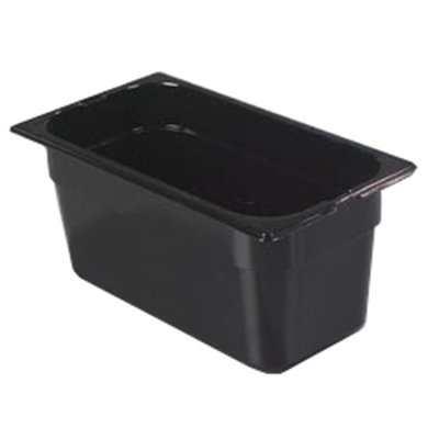 "Carlisle 1026203 1/3 Size Food Pan - 6""D, Black"