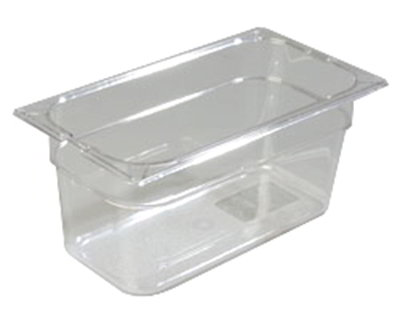 "Carlisle 1026207 1/3 Size Food Pan - 6""D, Clear"