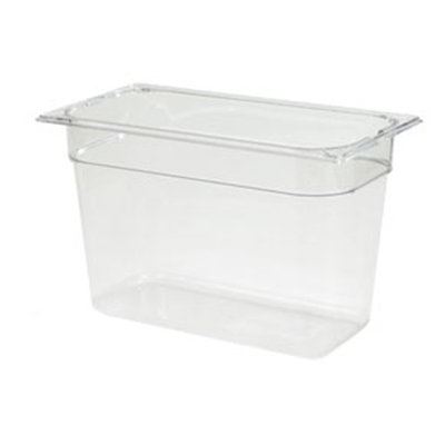 "Carlisle 1026907 1/3 Size Food Pan - 8""D, Clear"