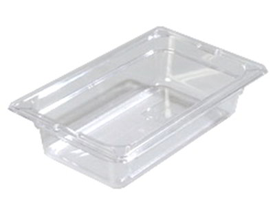 "Carlisle 1028003 1/4 Size Food Pan - 2-1/2""D, Black"